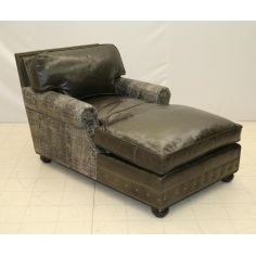 Leather Chaise 9831CHS