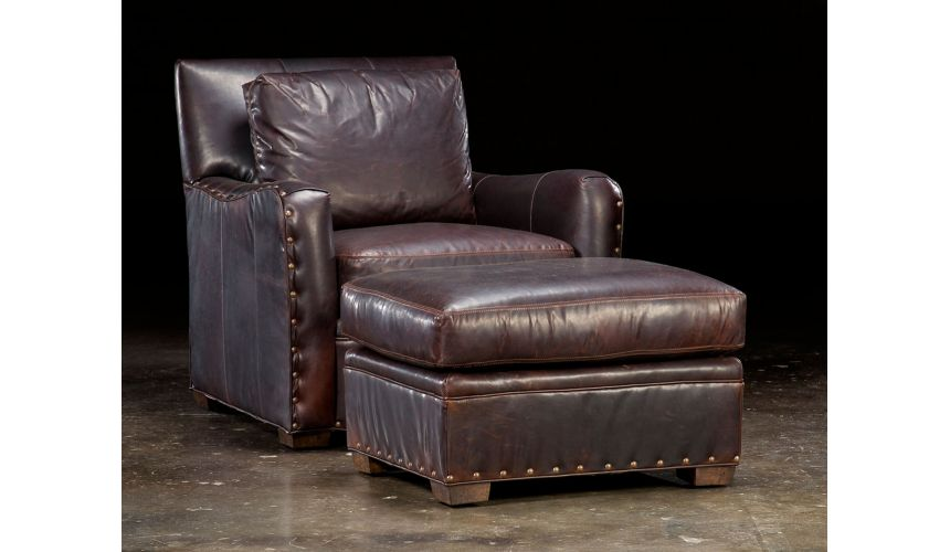 Luxury Leather & Upholstered Furniture Leather Club Chair