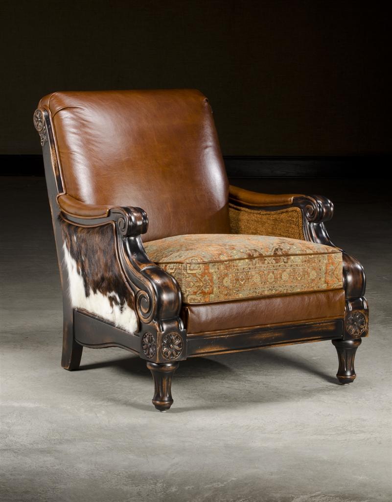 Leather Fabric Hair Hide Chair Fine Decor