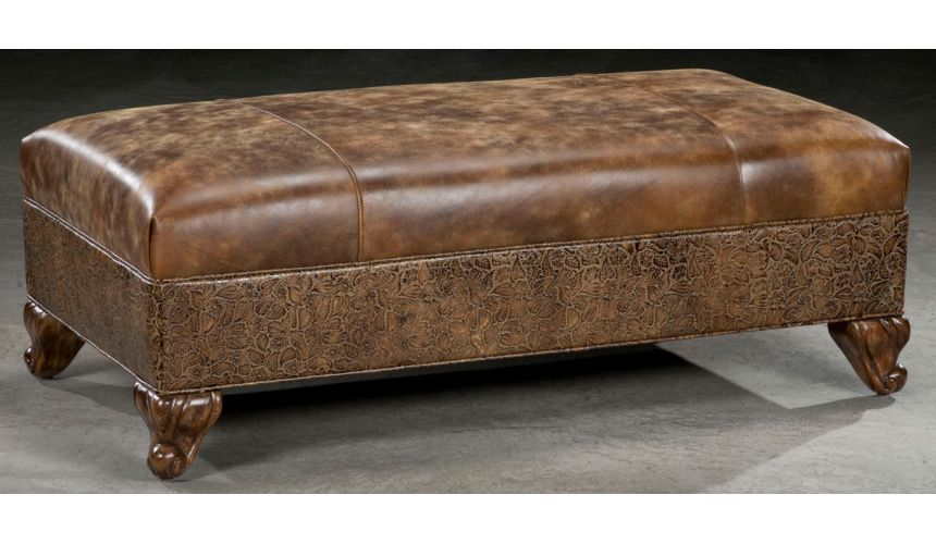 Luxury Leather & Upholstered Furniture Leather furniture. Luxury leather ottoman. 247