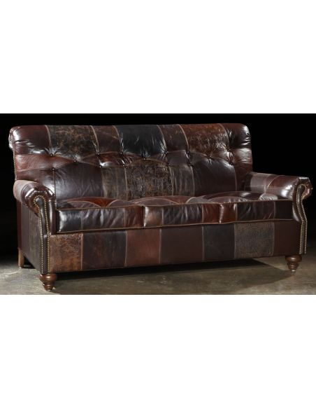 SOFA, COUCH & LOVESEAT 1 Leather patches sofa, USA made, Great looking and great price