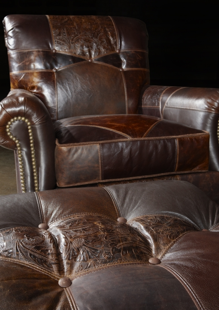 1 Leather Patches Sofa Usa Made Great Looking And Great