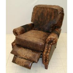 Leather and Hair Hide Recliner Chair 860R-03