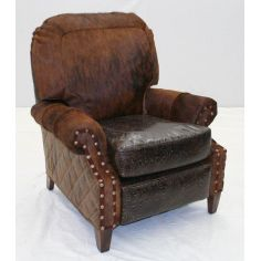 Leather and Hair Hide Recliner Chair 960R-03