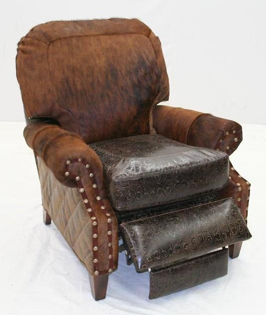 MOTION SEATING   Recliners, Swivels, Rockers Leather And Hair Hide Recliner  Chair 960R