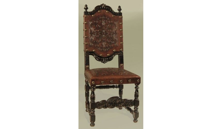 Dining Chairs Rustic Luxury Furniture Leather Side Chair