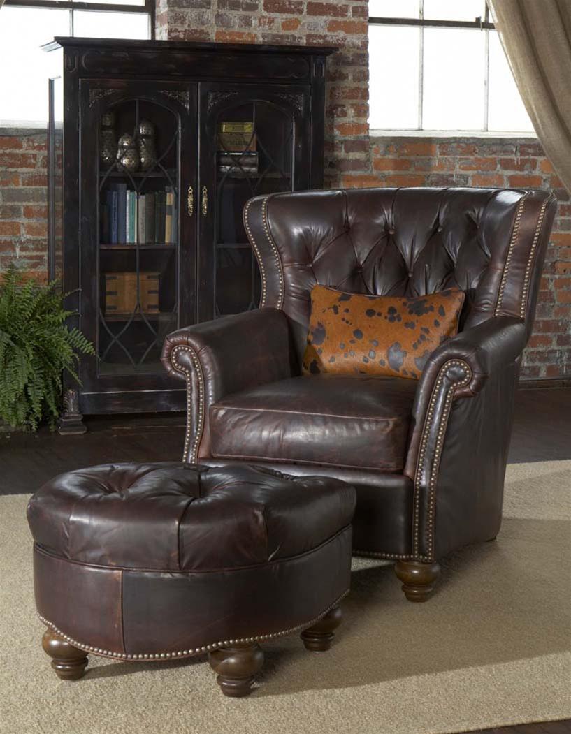 Enjoyable Leather Tufted Library Chair Spiritservingveterans Wood Chair Design Ideas Spiritservingveteransorg