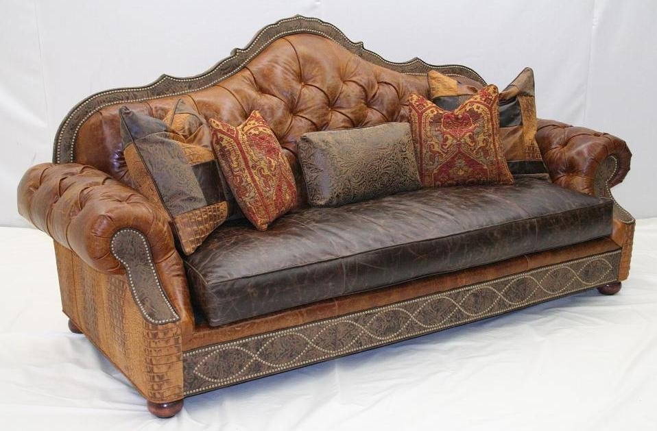 sofa in the world Leather tufted sofa