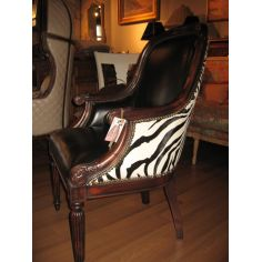 Luxury furniture leather zebra chair