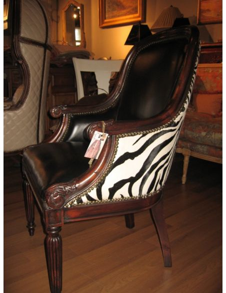 Office Chairs Luxury furniture leather zebra chair