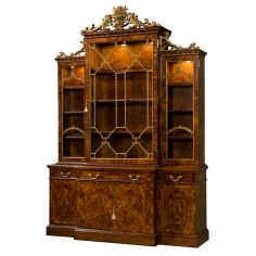 21 Library Chinoiserie bookcase, China cabinet