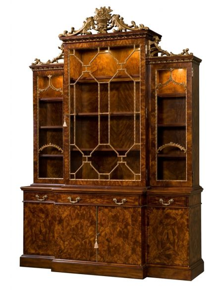 Breakfronts & China Cabinets 21 Library Chinoiserie bookcase, China cabinet