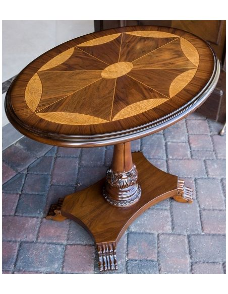 Oval carved Pedestal Table
