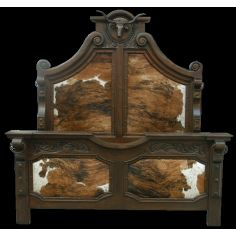 Longhorn bed. High style western furniture. The best in cowboy decor.