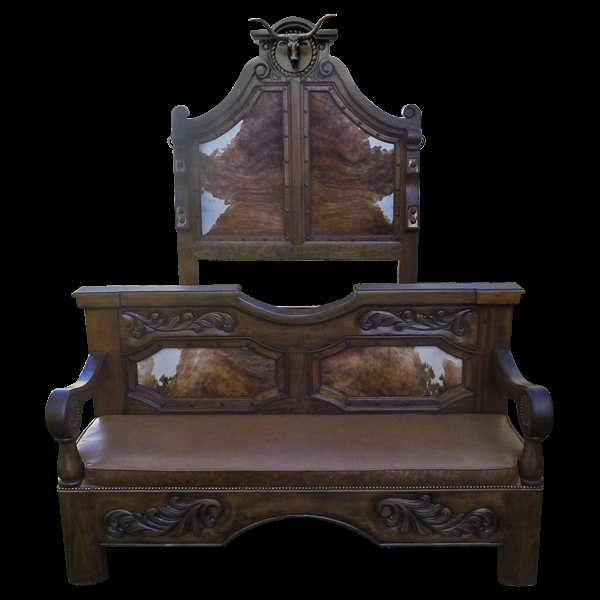 Longhorn Bed High Style Western Furniture The Best In Cowboy Decor