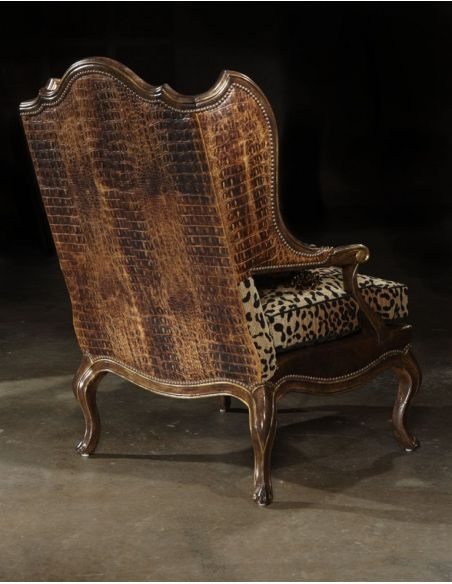 Luxury Leather & Upholstered Furniture Love My Leopard chair high end furniture