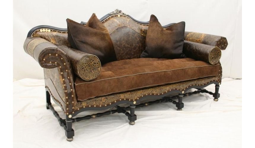 Leather Furniture Low Country Ebony Sofa