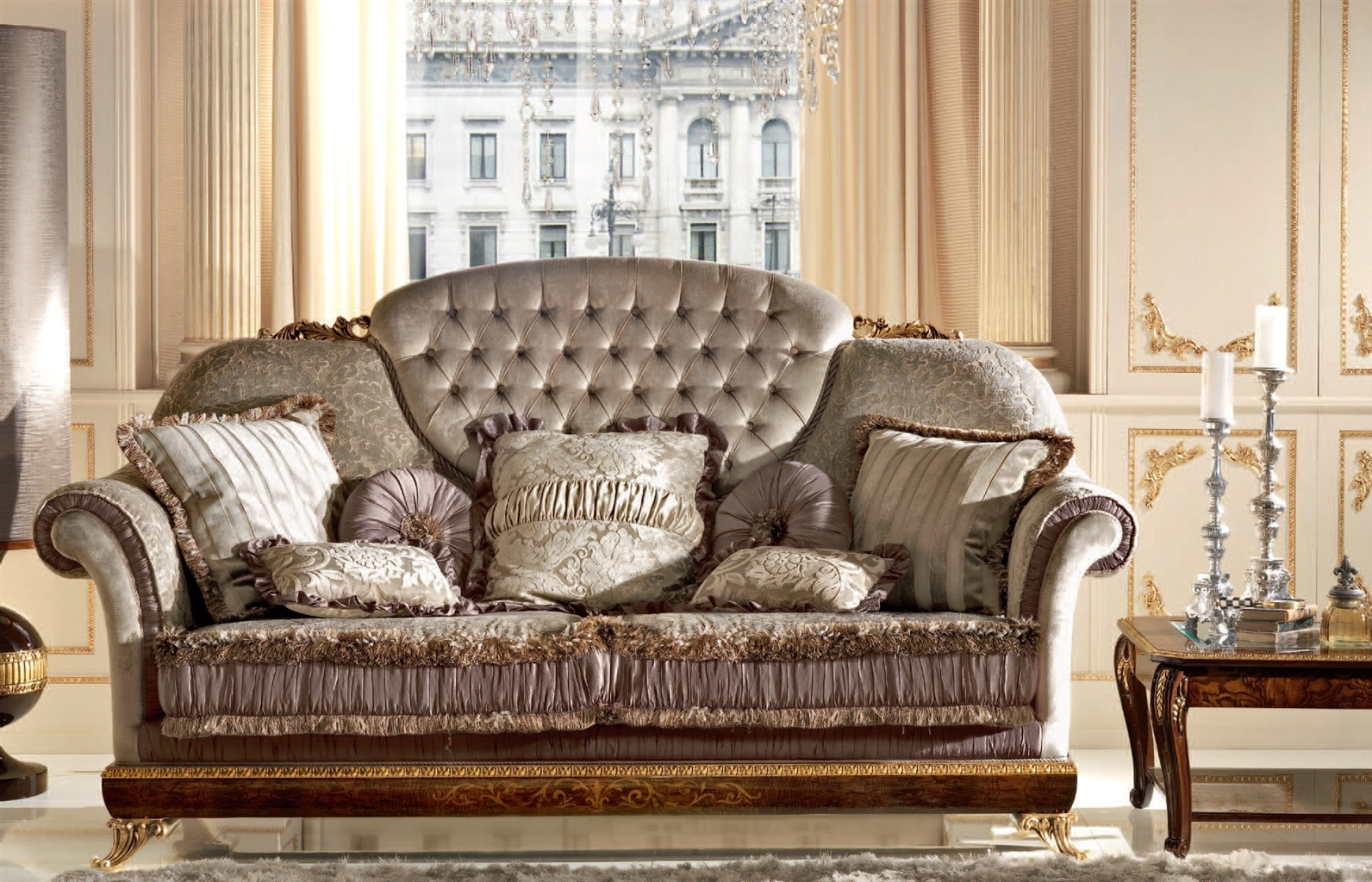 Royal Sofa For 3 People With Cushion