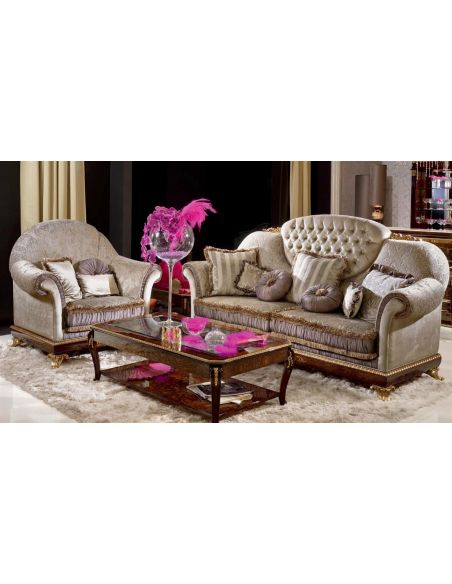 SOFA, COUCH & LOVESEAT Royal Sofa for 3 People with Cushion