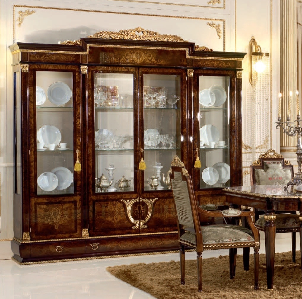 dining room furniture breakfronts china cabinets 4 door glass