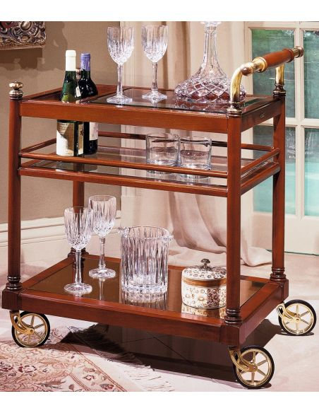 Home Bar Furniture Service Trolley with Wheels