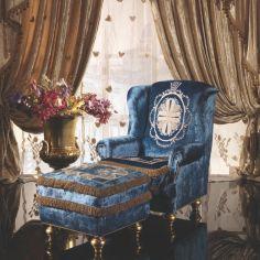 Aqua Italian Style Arm Chair