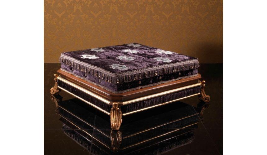 Furniture Masterpieces Italian Style Pouf Four Legged
