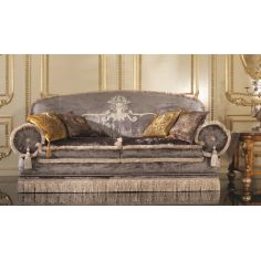 2 Person Sofa Velvet Embroidered
