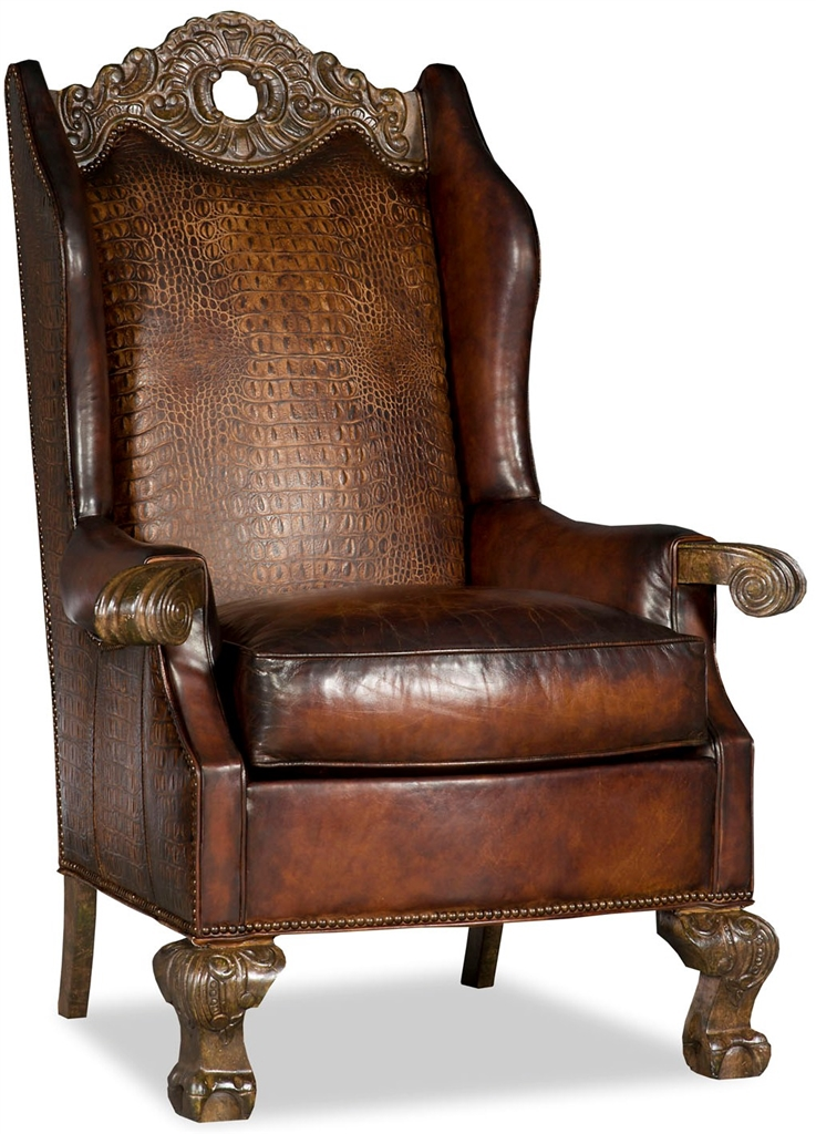 Wingback Leather Club Chair