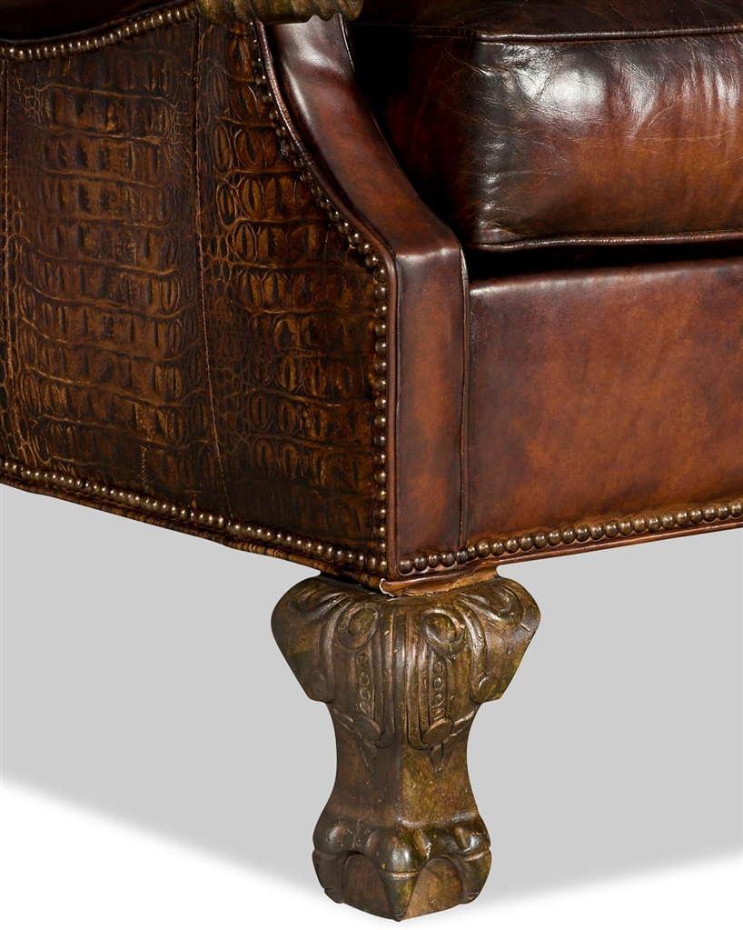 Luxury Leather U0026 Upholstered Furniture Wingback Leather Club Chair