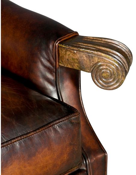 Luxury Leather & Upholstered Furniture Wingback Leather Club Chair