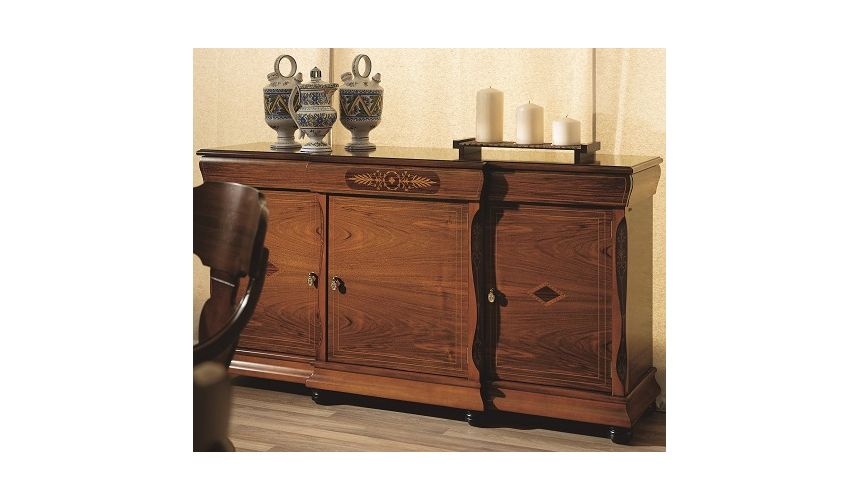 Breakfronts & China Cabinets Sideboard with Rounded Pilasters