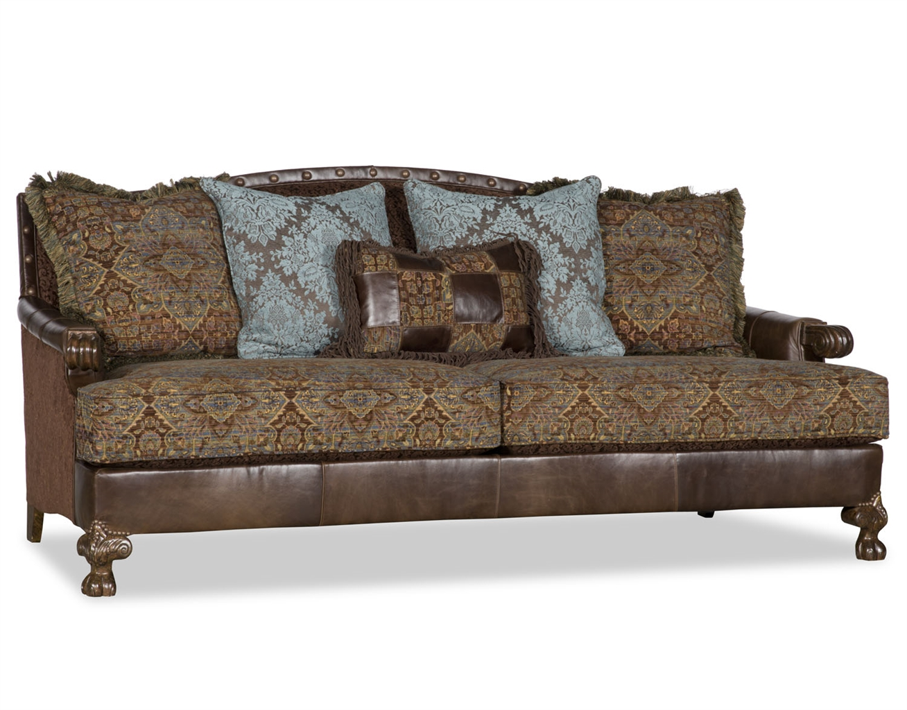 Colorful printed fabric upholstered sofa for Best quality upholstered furniture