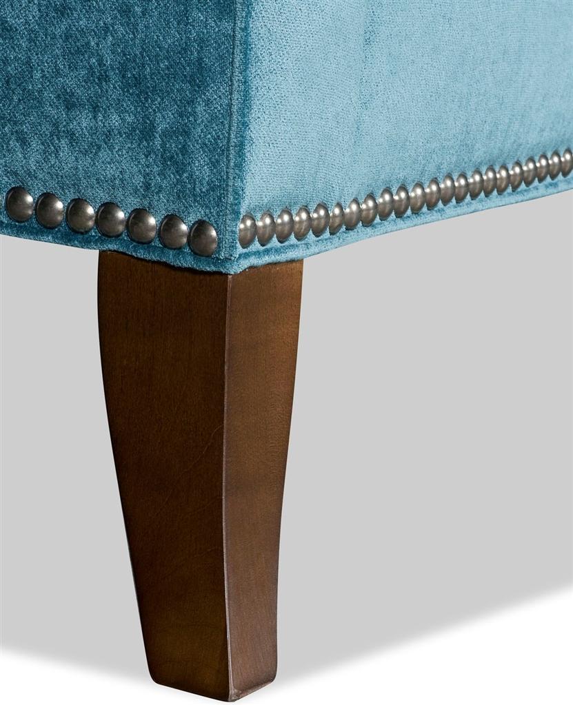 Elegant Turquoise Fabric Loveseat