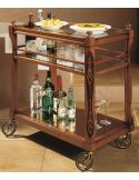 Drinks Trolley with Stylish Casters