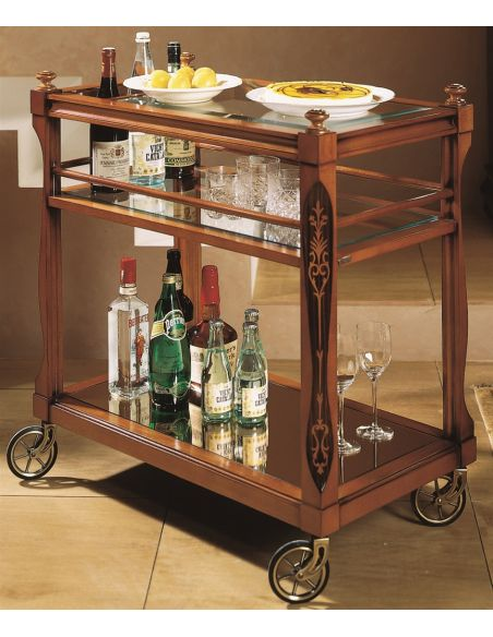 Home Bar Furniture Drinks Trolley with Stylish Casters