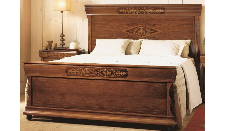 BEDS - Queen, King & California King Sizes Panel Bed with Nightstand