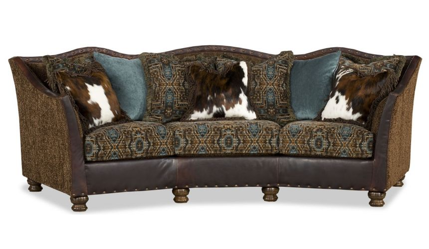 Luxury Leather & Upholstered Furniture Teal and Pony sofa.