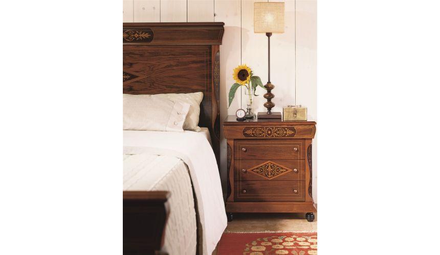 LUXURY BEDROOM FURNITURE Three Drawer Nightstand