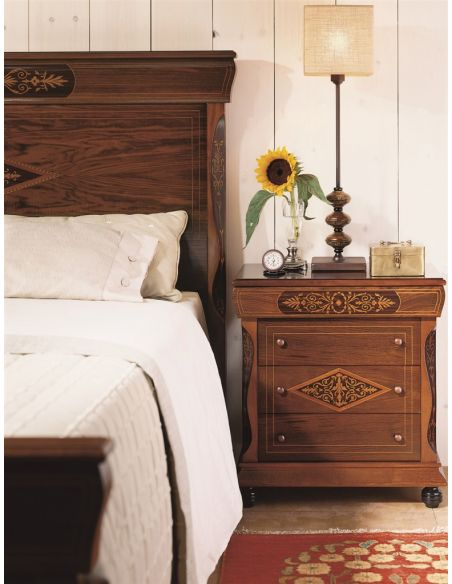 LUXURY BEDROOM FURNITURE Three Drawer Nightstand