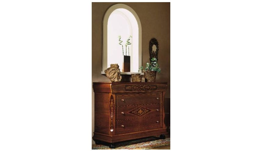 LUXURY BEDROOM FURNITURE 3-Drawer Chest with Bun Feet