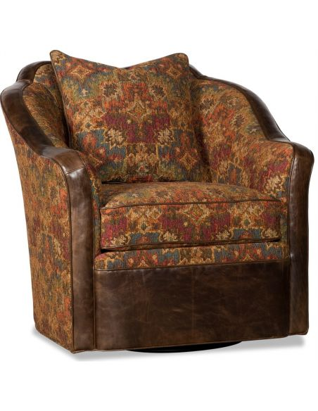Luxury Leather & Upholstered Furniture Colorful Single Swivel Chair