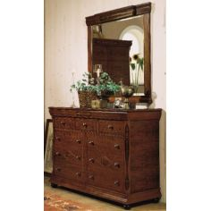 Vintage Drawer Chest with Vanity Mirror