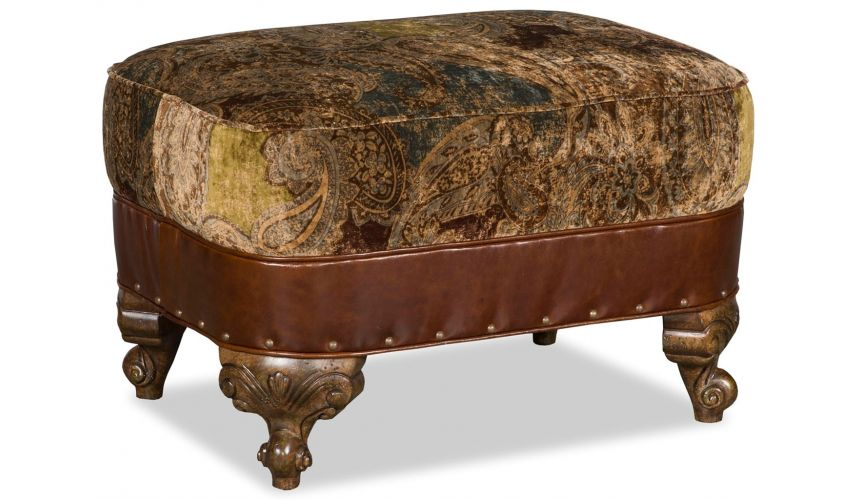 Luxury Leather & Upholstered Furniture Royal Upholstered Ottoman