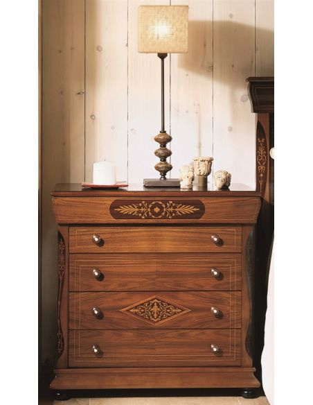 LUXURY BEDROOM FURNITURE Four-Drawer Bedside Chest