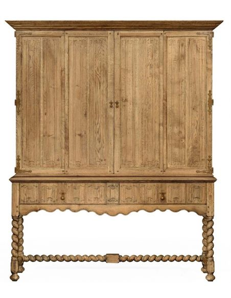 Entertainment Centers, TV Consoles, Pop Ups Elizabethan TV Entertainment Cabinet with Drawers