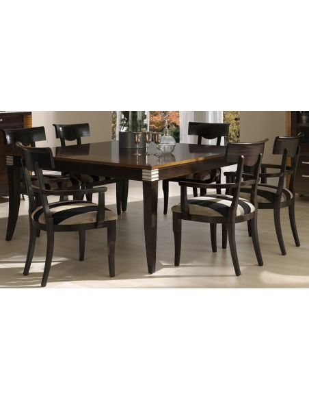 Dining Tables Rectangular Dining Table with Open Back Chairs