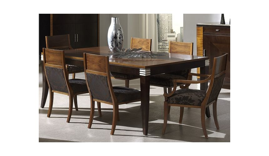 Dining Tables Rectangular Dining Table with Curved Back Chairs