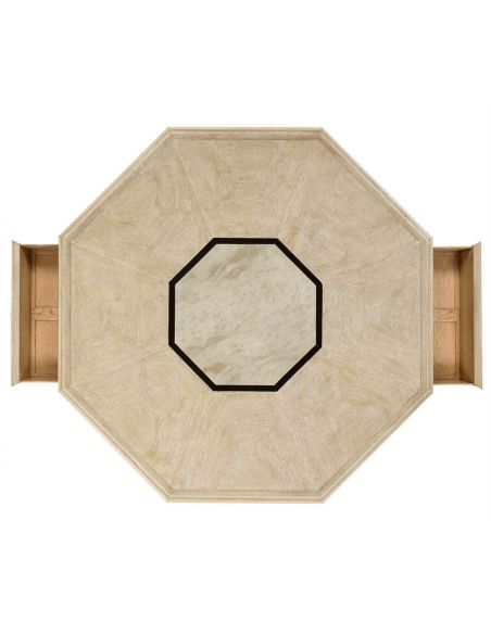 Round and Oval Coffee tables Octagonal Limed Acacia Coffee Table