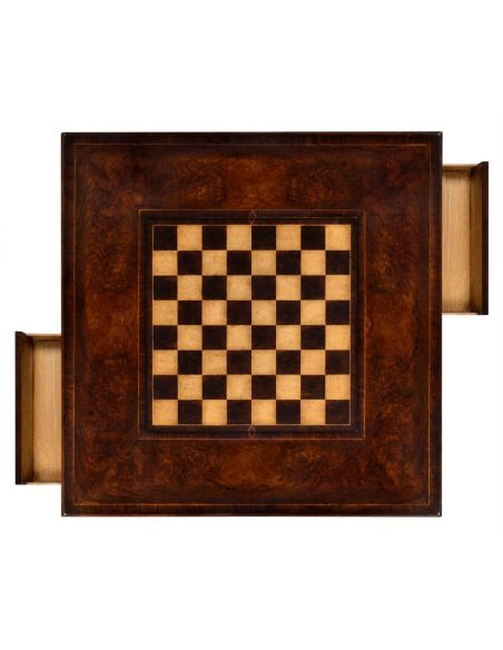 Large Gothic Walnut Games Table